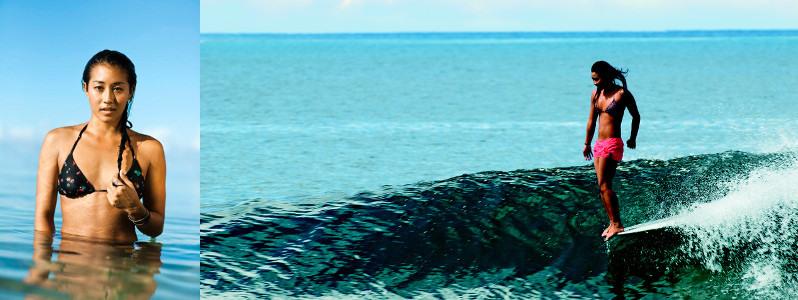 Серфинг девушки - Келиа Мониз