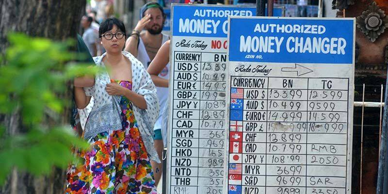 Деньги на Бали. Примерные курсы обмена валют