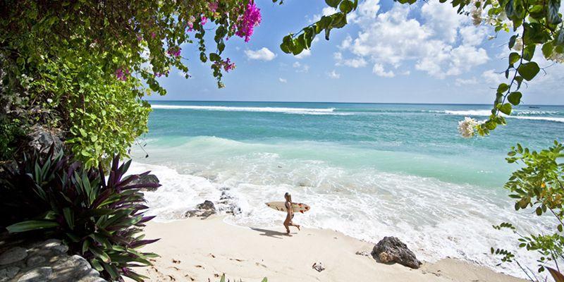 Погода Бали в сухой сезон, пляж Бингин