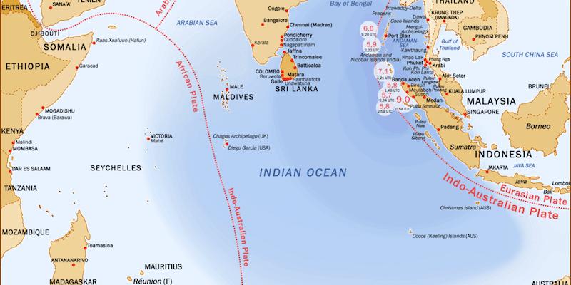 Индийский океан в фактах